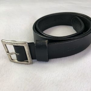 J Crew men's thick black leather belt size 34